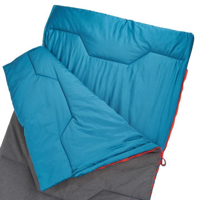 Saco Dormir Camping Quechua 10° Adulto Algodón Gris/Azul