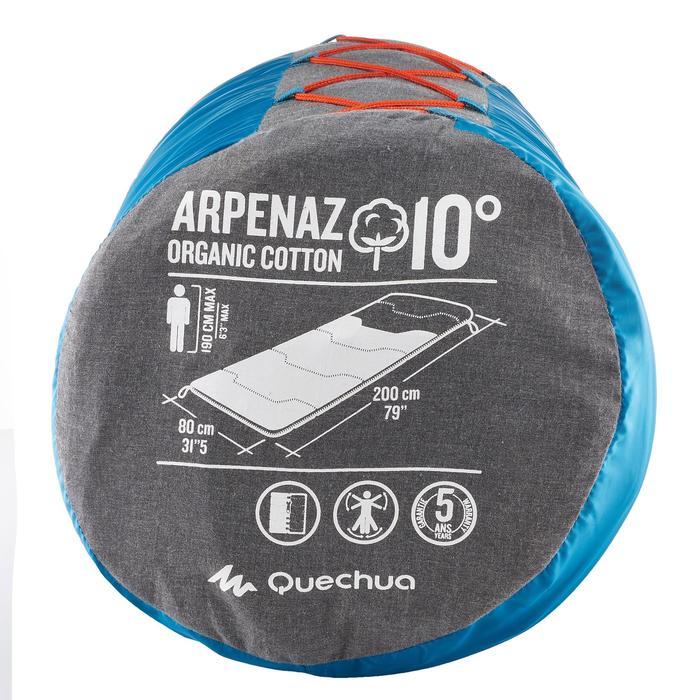 SACO DE DORMIR DE CAMPING ALGODÓN ARPENAZ 10°