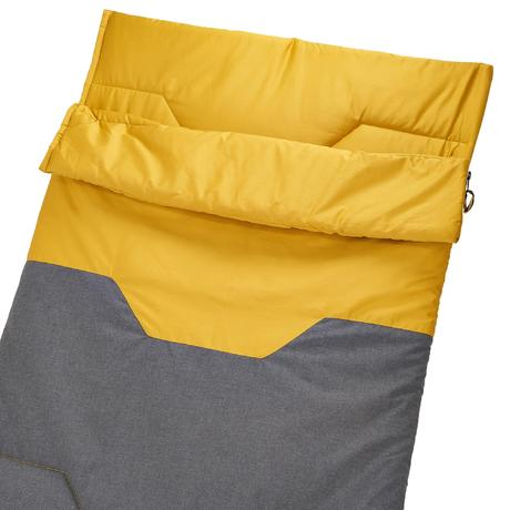 sac de couchage de camping camp du randonneur arpenaz 10 coton jaune quechua. Black Bedroom Furniture Sets. Home Design Ideas