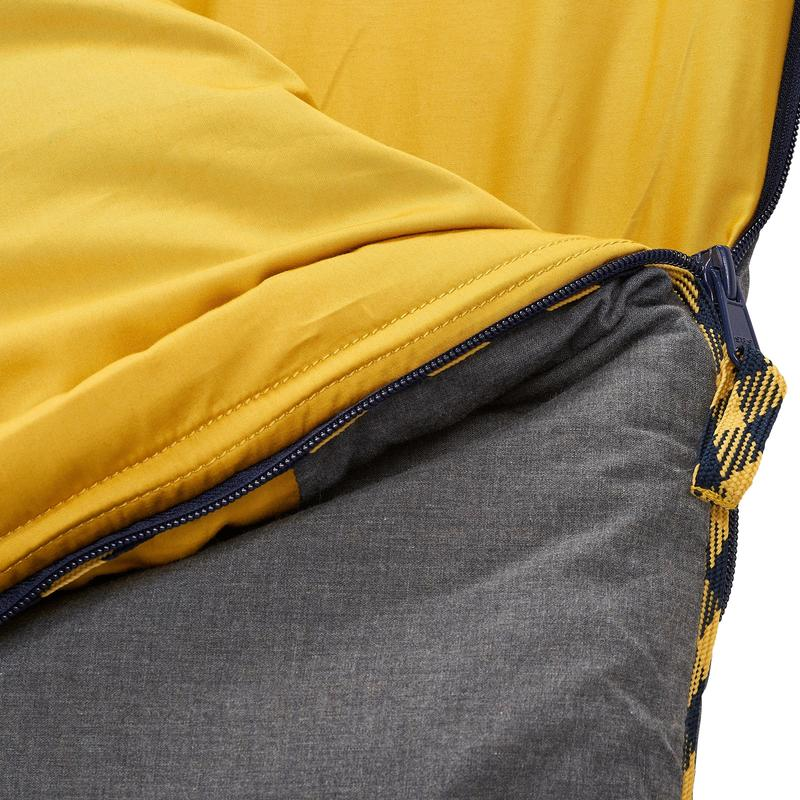 Arpenaz 10° Cotton Camping Sleeping Bag