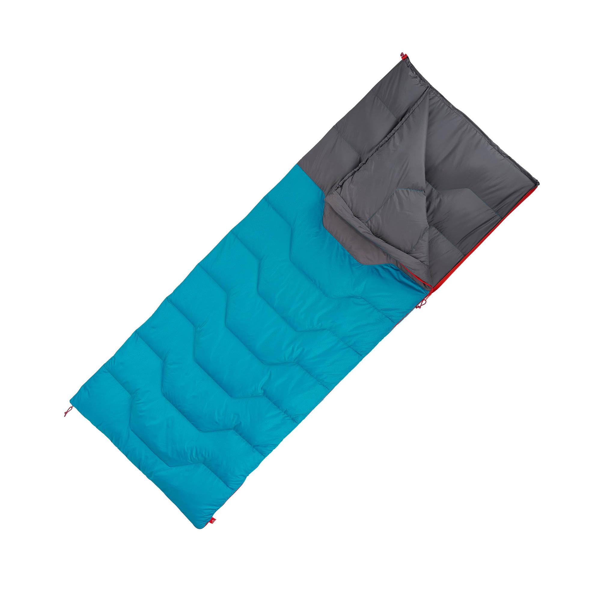 sac de couchage de camping camp du randonneur arpenaz 10 plume bleu quechua. Black Bedroom Furniture Sets. Home Design Ideas