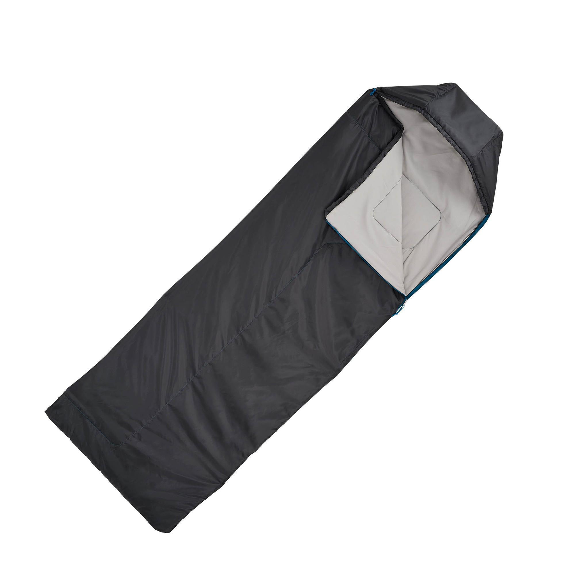 sac de couchage de bivouac randonn e trek forclaz 15 noir quechua. Black Bedroom Furniture Sets. Home Design Ideas