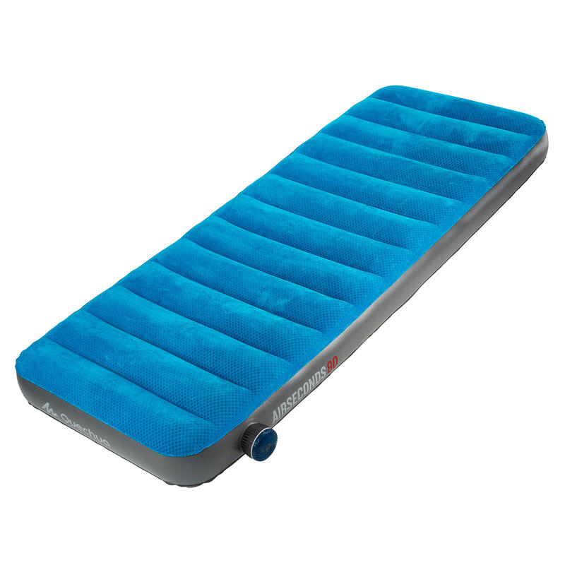 MATELAS DE CAMPING GONFLABLE AIR SECONDS _PIPE_ 1 PERSONNE - LARGEUR 80 CM