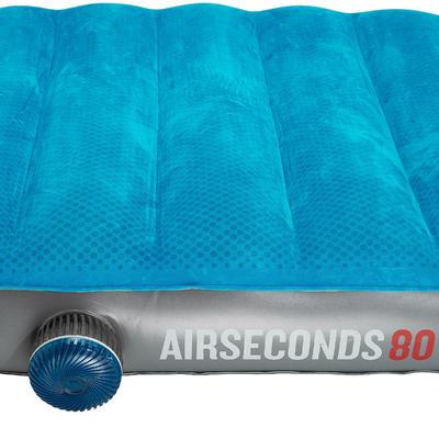 مرتبة نوم قابلة للنفخ Air Seconds 80 للتخييم/التنزه- شخص واحد- لون أزرق