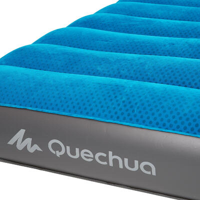 Colchón Camping Quechua Air Seconds Azul Inflable 80 CM 1 Persona