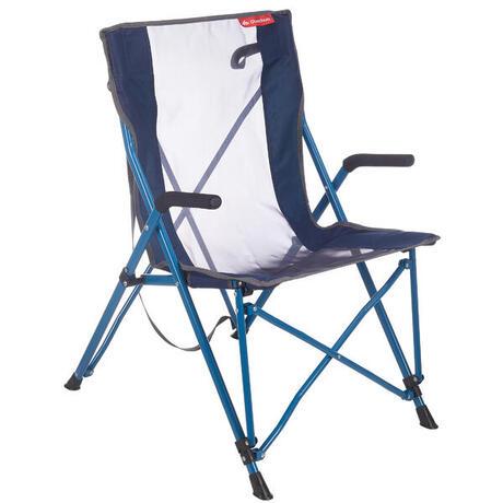 Fauteuil confort de camping camp du randonneur bleu quechua - Chaise de camping decathlon ...