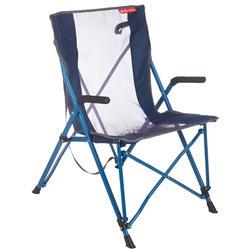 Vouwstoel Comfort voor de camping blauw