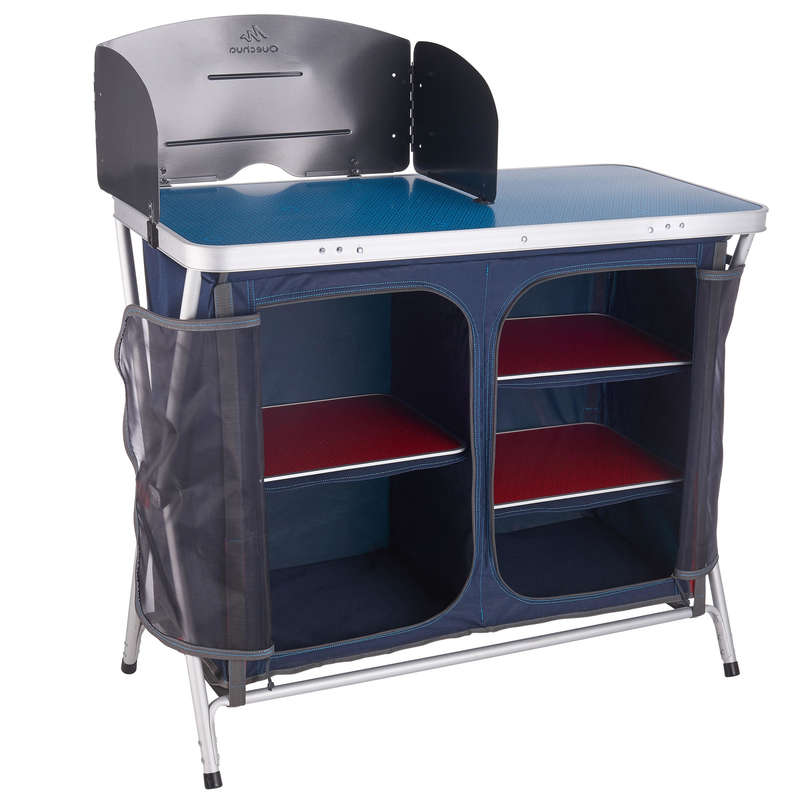 BASE CAMP FURNITURE Camping - FOLDING CAMPING KITCHEN UNIT  QUECHUA - Camping Furniture and Equipment