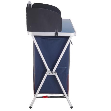 Mobilier camping meuble de cuisine bleu quechua for Meuble cuisine camping decathlon