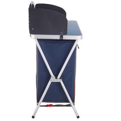 FOLDING, COMFORTABLE KITCHEN UNIT FOR CAMPING