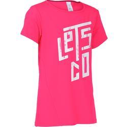 Meisjes T-shirt voor gym Breathe rose met