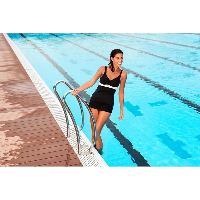 Maillot de bain de natation gainant femme une pièce Kaipearl skirt - 758335