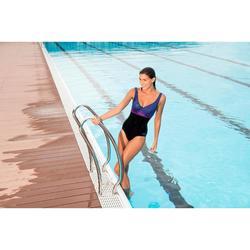 Maillot de bain de natation femme gainant une pièce Kaipearl skirt noir