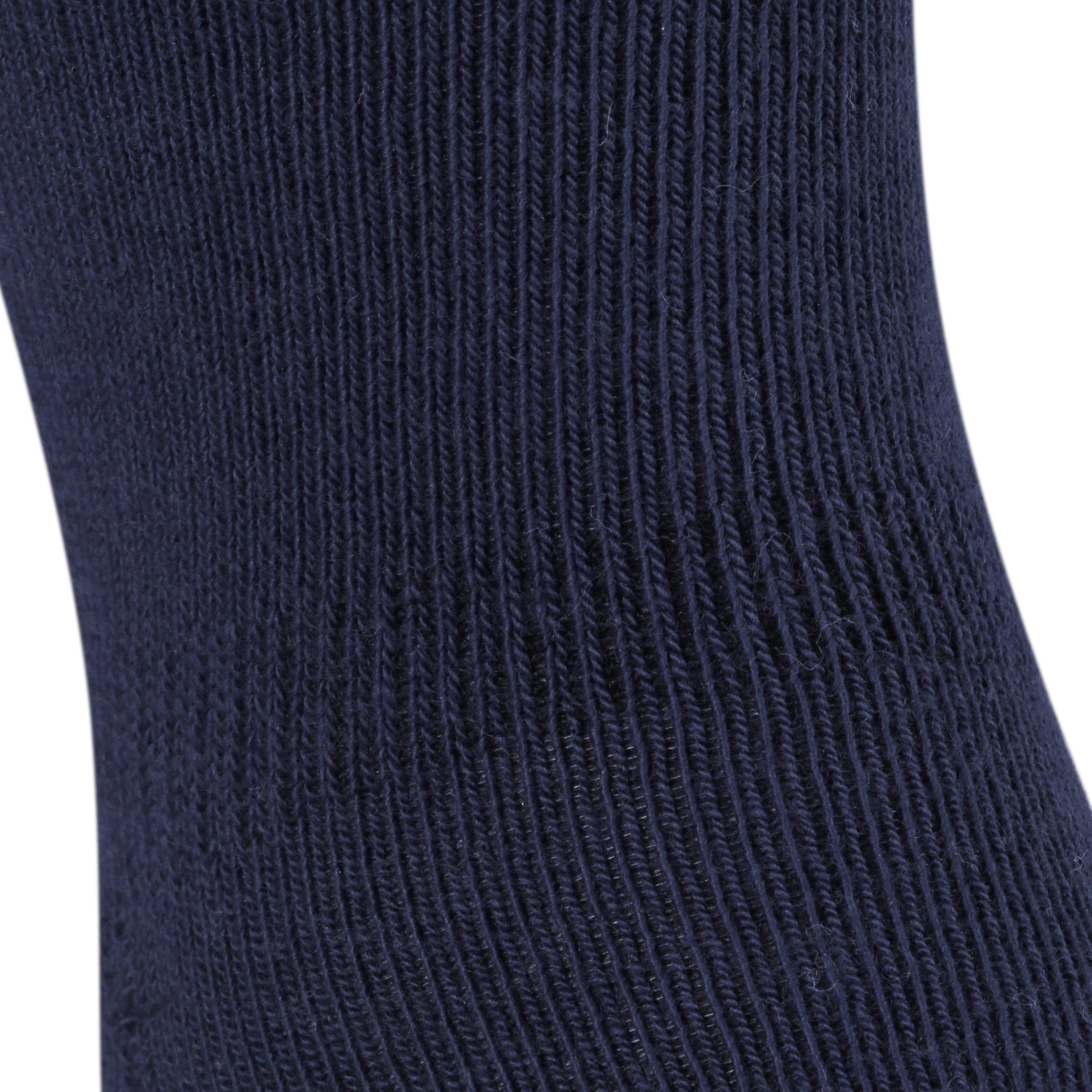500 Anti-Slip Gym Socks Twin-Pack - Navy/Mottled Grey