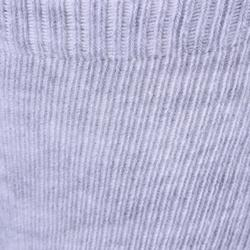 Turnsocken 500 rutschfest Baby 2-er-Pack marineblau/grau meliert