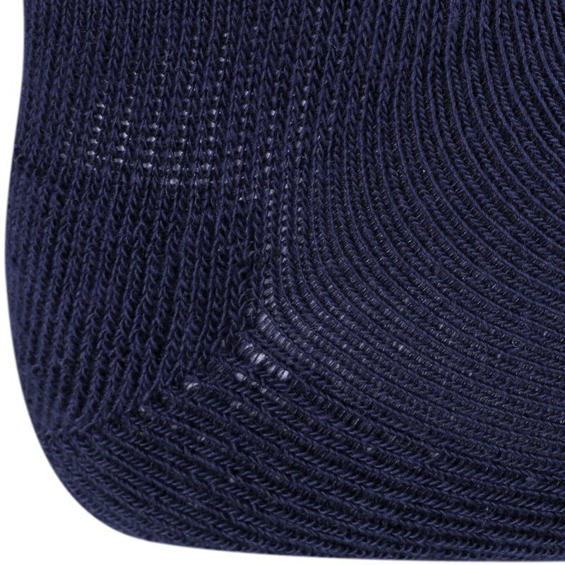 Calcetines 500 ANTIDESLIZANTES PACK 2 GIMNASIA azul marino/gris jaspeado