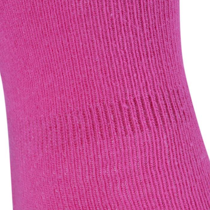 Calcetines ANTIDESLIZANTES LOTE 2 GIMNASIA rosa/gris jaspeado