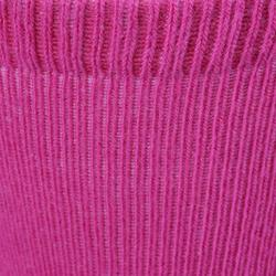 Antislip sokken 500 voor gym, set van 2 paar, roze/gemêleerd grijs