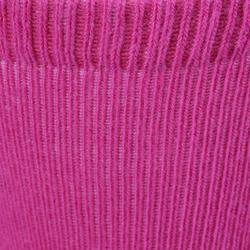 Turnsocken 500 rutschfest Baby 2-er-Pack rosa/grau meliert