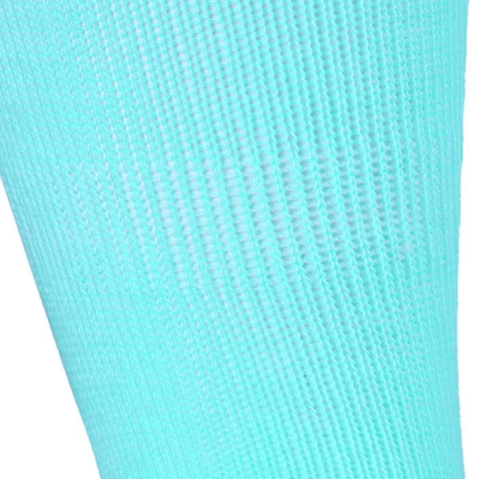 Lote de 2 pares de calcetines de gimnasia infantil verde claro/gris jaspeado