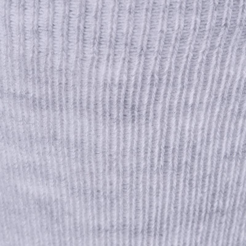 Calcetines 100 MID PACK 2 GIMNASIA verde claro/gris jaspeado