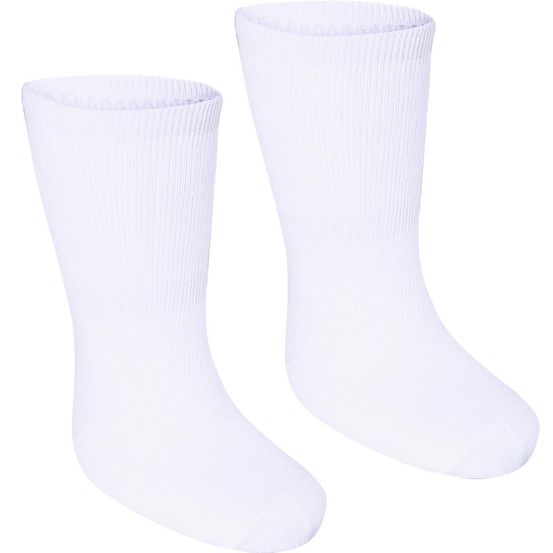 Calcetines 100 MID PACK 2 GIMNASIA blancos