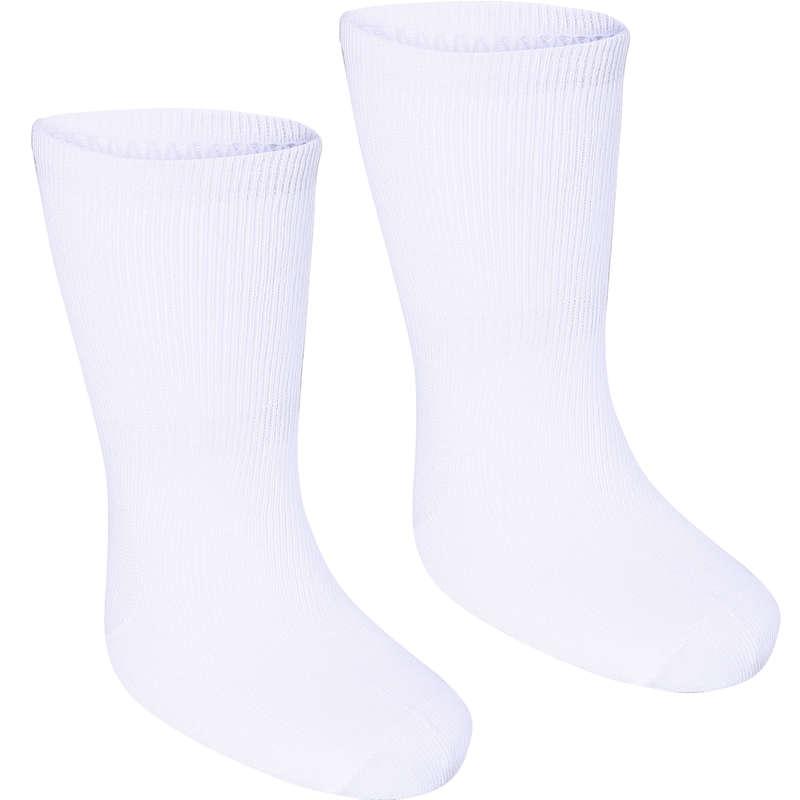 JİMNASTİK PATİK - BEBEK Jimnastik - 2'li Bebek Çorabı-Beyaz DOMYOS - All Sports