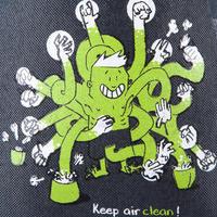 Sac à magnésie stop chalk taille G noir-vert