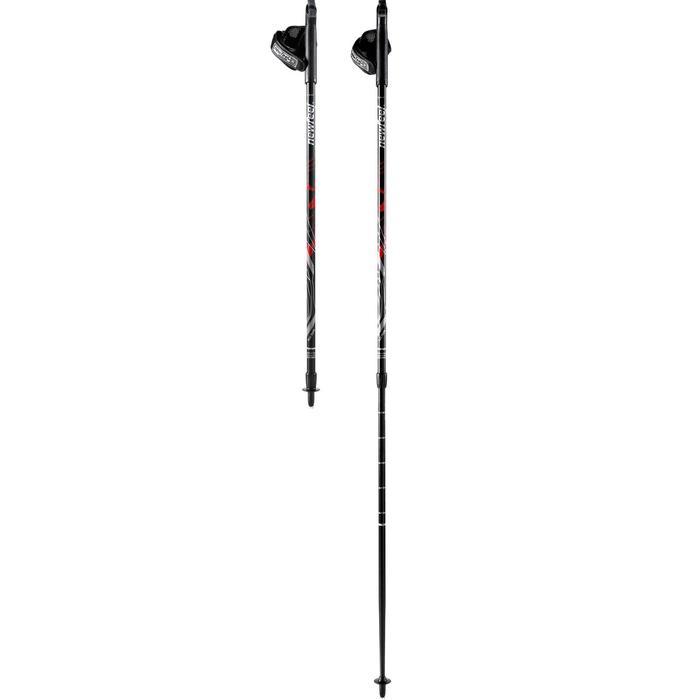 Bâtons de marche nordique télescopiques PW P120 noir / rouge - 758837