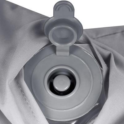 Cojín de viaje inflable gris