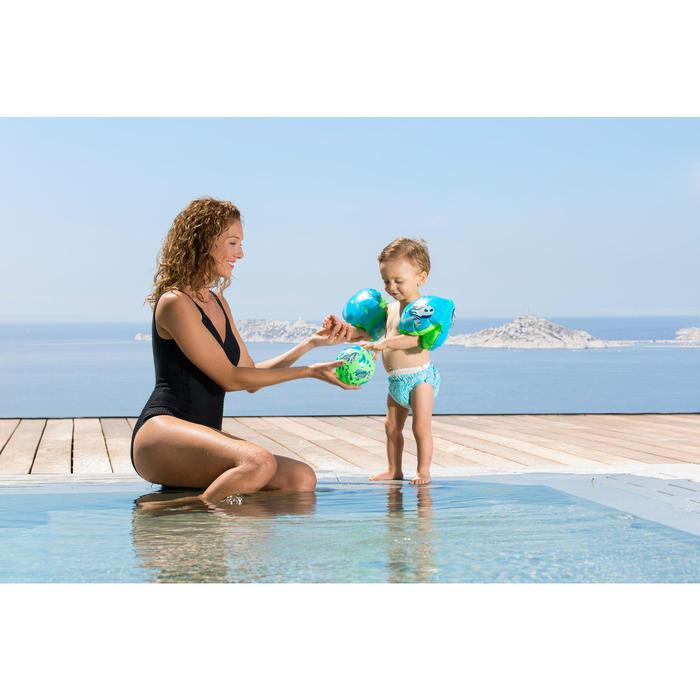 """Brassards de natation enfant bleus imprimés """"ZEBRE"""" - 758968"""