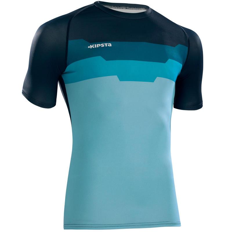 Camiseta térmica ligera transpirable de manga corta adulto Keepdry 100 hexa azul