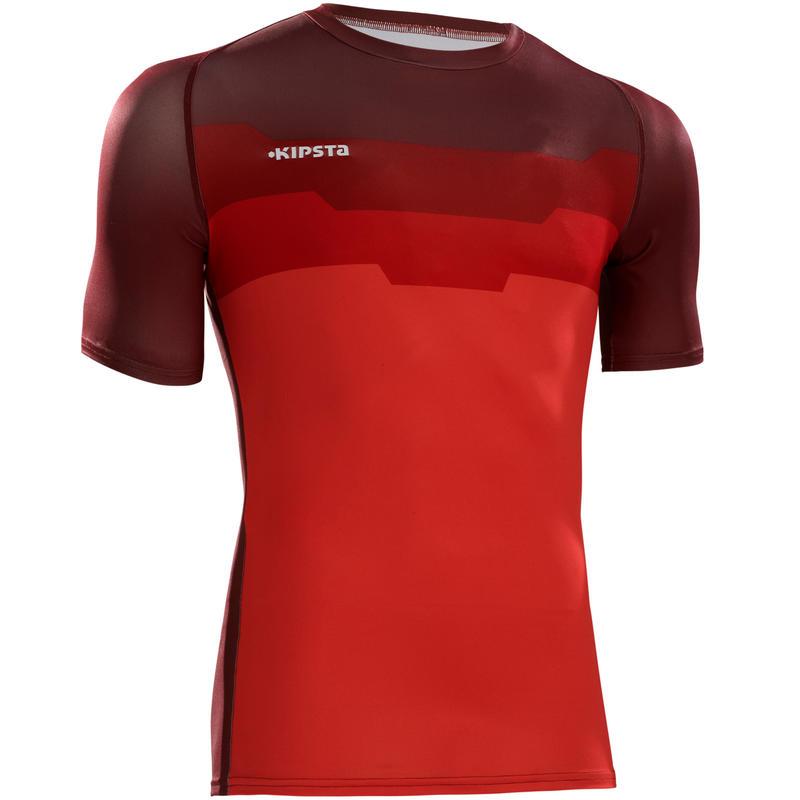 Camiseta térmica ligera transpirable de manga corta adulto Keepdry 100 hexa rojo