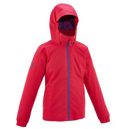 Hike 500 Girl's Hiking Waterproof Jacket - Pink