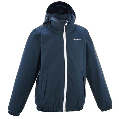 Hike 500 Children's Boy's Waterproof Hiking Jacket – Navy | Quechua