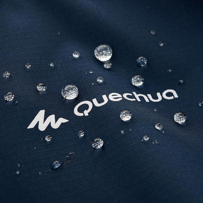 Chaqueta Impermeable Montaña y Senderismo Quechua MH500 Niños Azul Marino