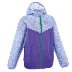 Kid's Raincoat (Full Zip) - Purple