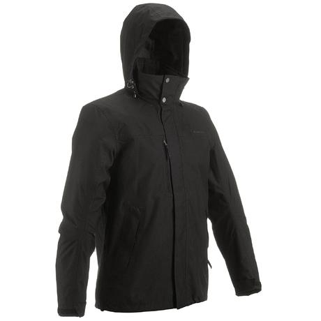 Arpenaz 300 Men's Hiking Waterproof Rain Jacket - Black | Quechua