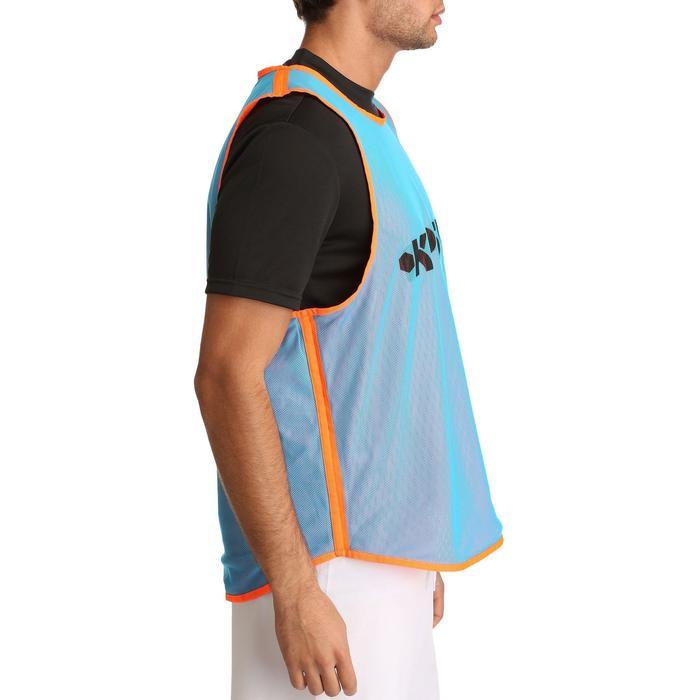 Omkeerbaar hesje rugby blauw oranje
