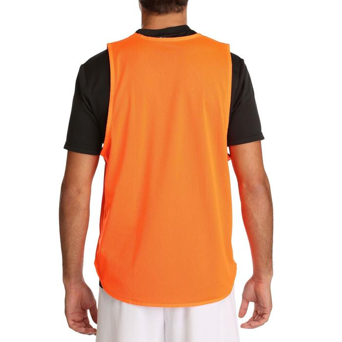 Chasuble réversible rugby bleue orange