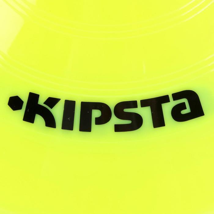 Set de 10 disques plats jaunes fluos - 759536