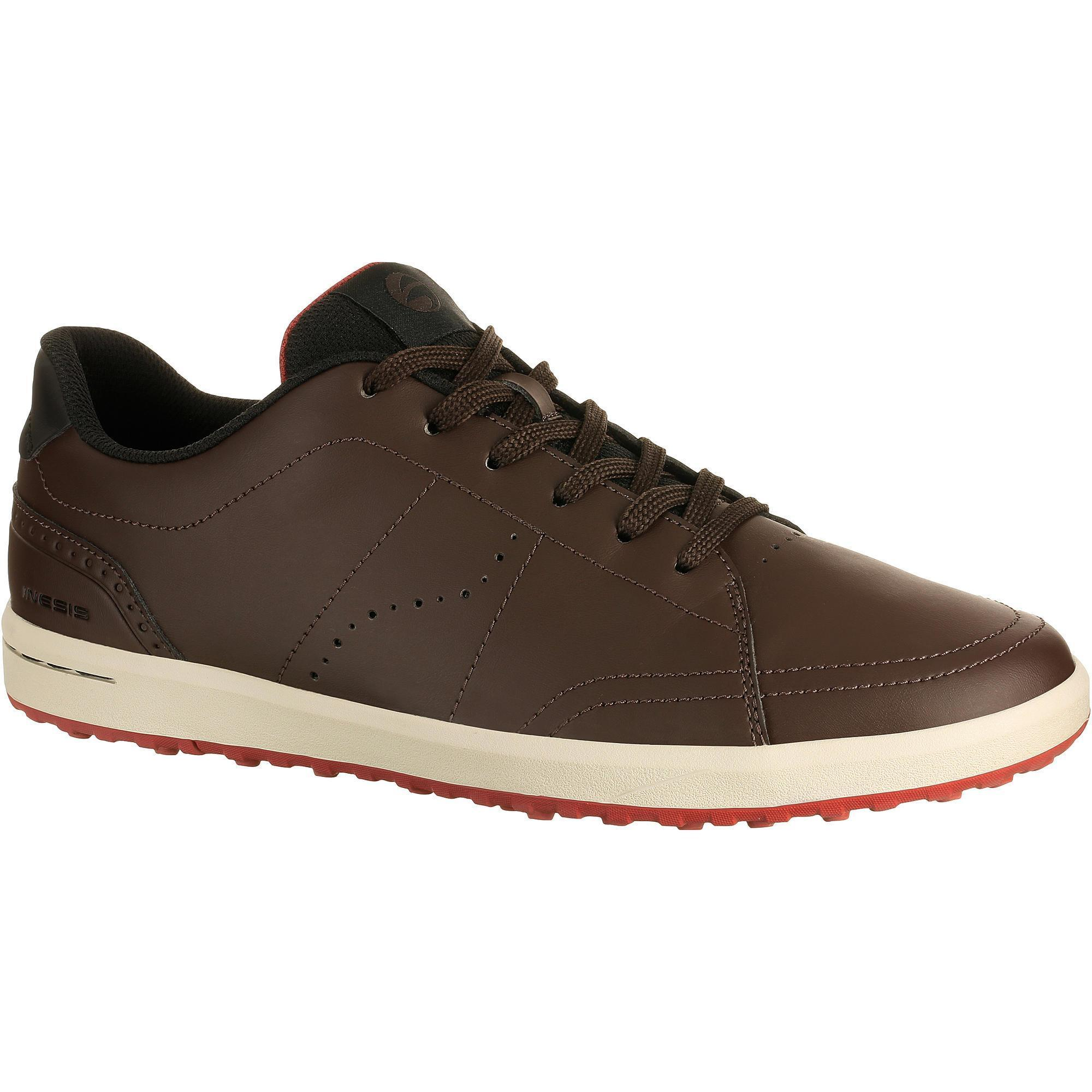chaussures golf homme spikeless 100 marron inesis golf. Black Bedroom Furniture Sets. Home Design Ideas