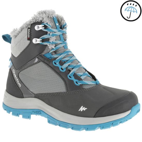 Hoge wandelschoenen Forclaz 500 warm en waterdicht dames - 760583