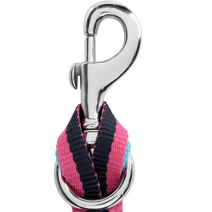 Ronzal equitación poni y caballo WINNER rosa y azul - 2,5 m