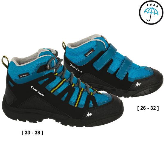 Waterdichte wandelschoenen Arpenaz 100 mid voor kinderen, met veters - 760801