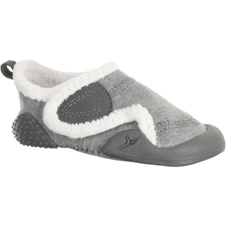 Chaussons 550 BABYLIGHT GYM doublé gris chiné blanc  c121aa35d00