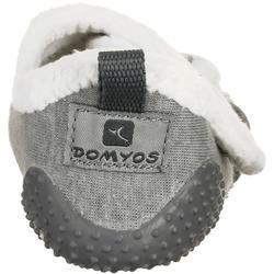 Zapatillas Gimnasia Bebé Domyos 550 Babylight Bebé Gris/Blanco