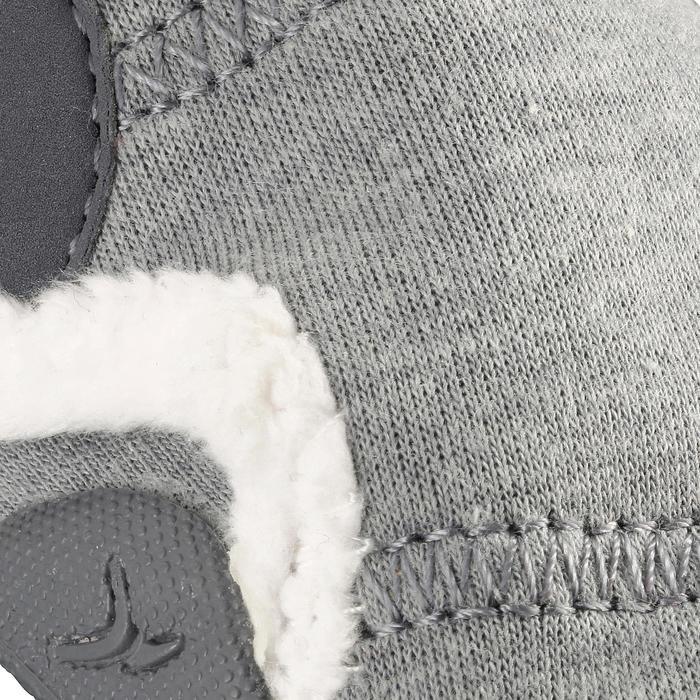 Gevoerde gymschoentjes 550 Babylight gemêleerd grijs/wit