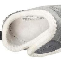 Chaussons 550 Bébé Léger doublés gris/blanc