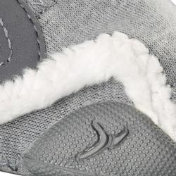 550 Baby Light Lined Bootees - Grey/White
